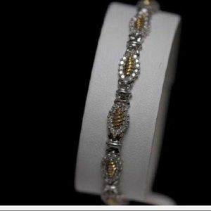 Jewelry - 1.25 CTW DIAMOND BRACELET GOLD PLATED 925 STERLING